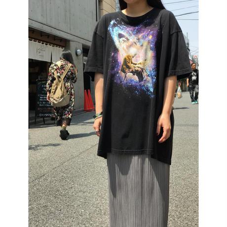 90s print t-shirt ブラック USA製 表記2XL