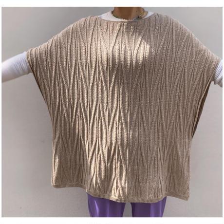1990s オーバーサイズポンチョニットセーター
