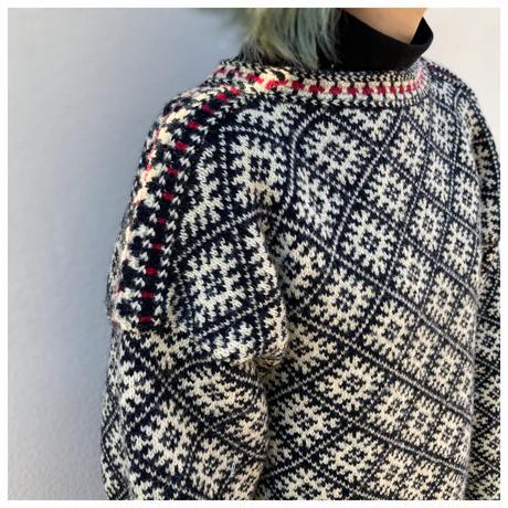 1980s オーバーサイズウールニットセーター
