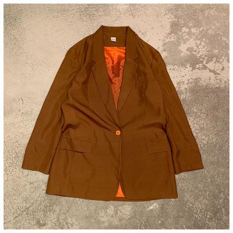 1980s シルクテーラードジャケット