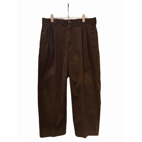 """Polo by Ralph Lauren"" cotton wide pants ブラウン"