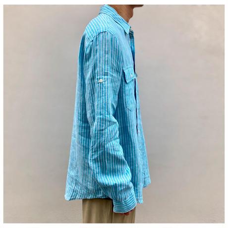 "1990s ""Polo by Ralph Lauren""リネンストライプシャツ"