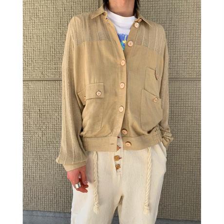 80年代 リネンブレンドデザインジャケット