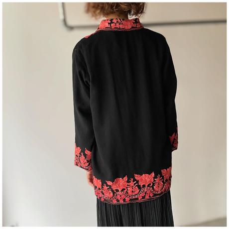 【レディース】1990s ウール刺繍ジャケット