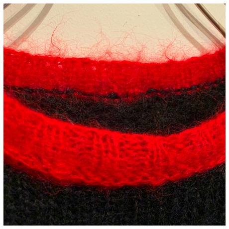 1980s モヘアブレンドデザインニットセーター