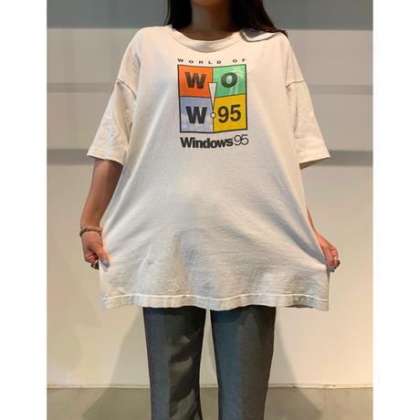 """90年代 """"Windows95"""" プリントTシャツ"""