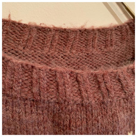 1980s ウールノルディックセーター