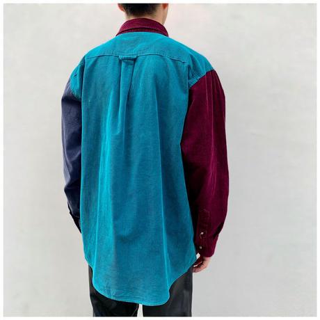 1990s クレイジーパターンコーデュロイシャツ