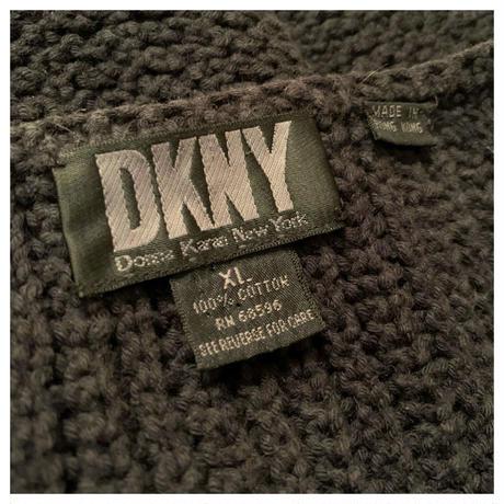 """1990s """"DKNY"""" コットンニットセーター"""