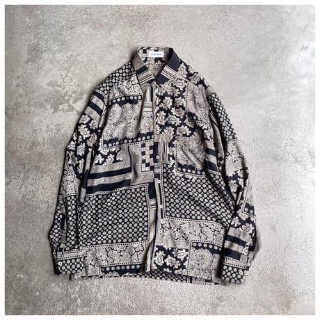 1990s レーヨンブレンド総柄シャツ イタリア製
