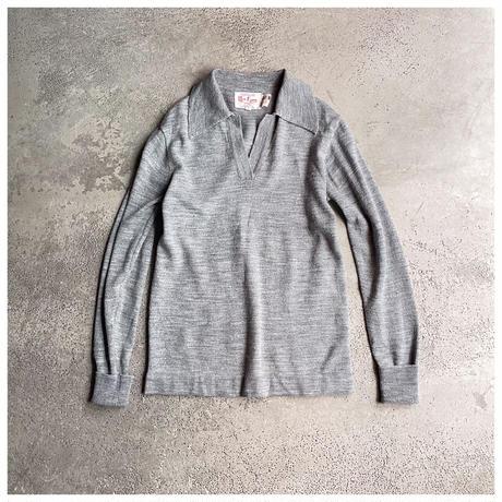 【レディース】1970s アクリルニットスキッパーシャツ