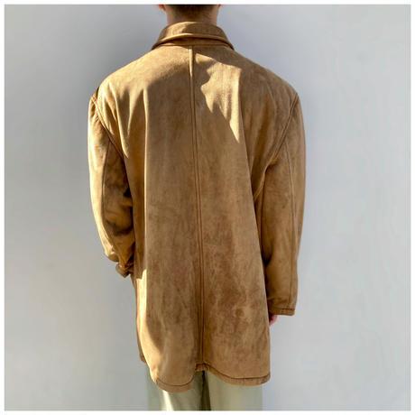 1990s フェイクスウェードカバーオールジャケット