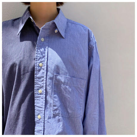 """1990s """"Christian Dior"""" コットンバイカラーシャツ"""
