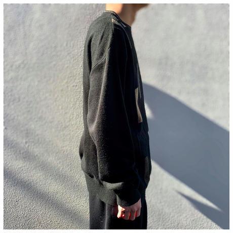 1990s アクリルデザインニットセーター