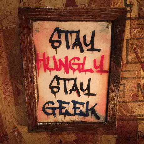 "Wall Mini Frame ""STAY HUNGLY , STAY GEEK"""