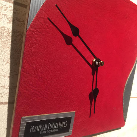 "Wall Clock ""Red×Silver"""