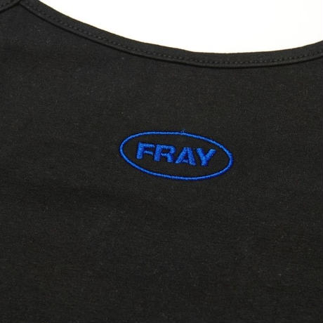 【Fray】FRAY SLEEVELESS CROP TOP BLACK