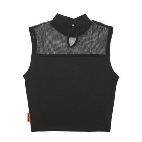 【Fray】FRAY MESH HIGH NECK TOP BLACK