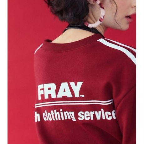 【Fray】FRESH CREWNECK SWEATER BURGUNDY