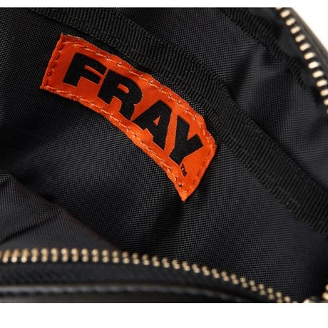【Fray】FRAY LEATHER WAIST BAG BLACK