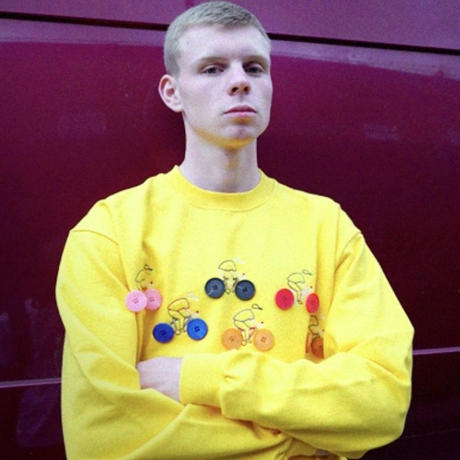 【easy busy】Button Detail Sweatshirts – Yellow