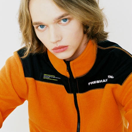 【Fray】CUT FLEECE JACKET ORANGE