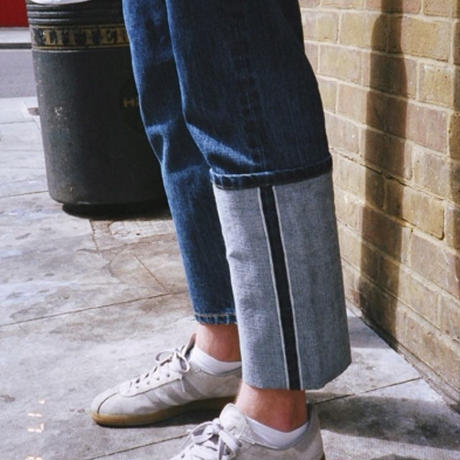 【easy busy】Unbalance Selvage Detail Jeans – Denim