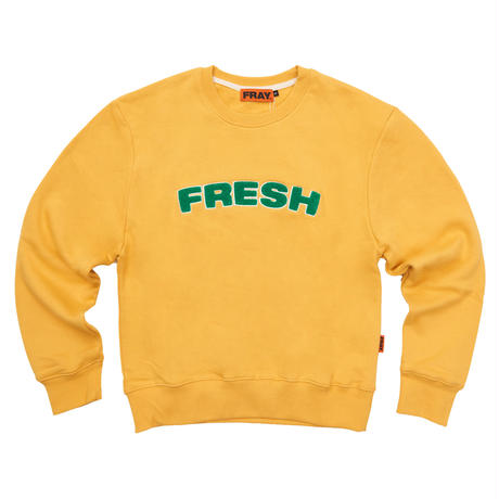 【Fray】FRESH CREWNECK SWEATER MUSTARD