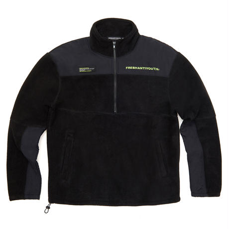 【Fray】CUT FLEECE JACKET BLACK