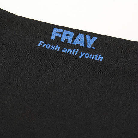 【Fray】FRAY OFF SHOULDER TOP BLACK