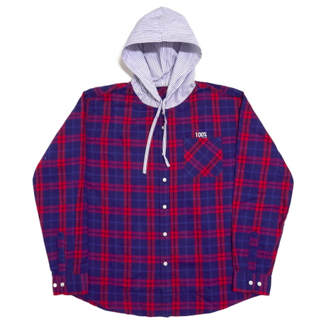 Flannel Hood-Shirts – Blue