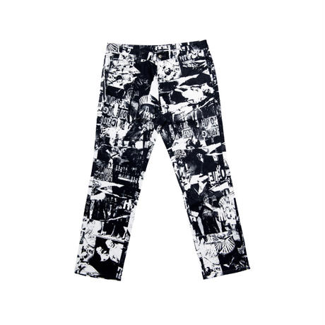 【IMXHB】TORN PICTURES ALL PRINT PANTS - O/C
