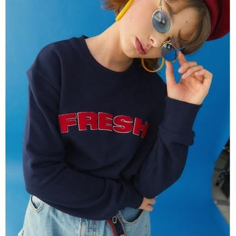 【Fray】FRESH CREWNECK SWEATER NAVY