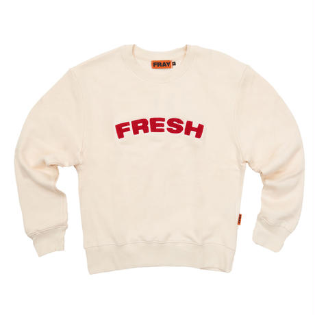 【Fray】FRESH CREWNECK SWEATER IVORY