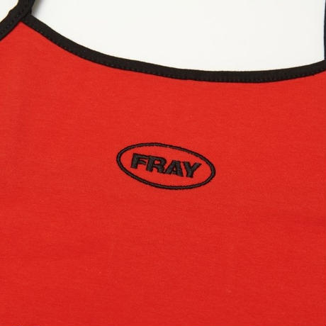 【Fray】FRAY SLEEVELESS CROP TOP RED