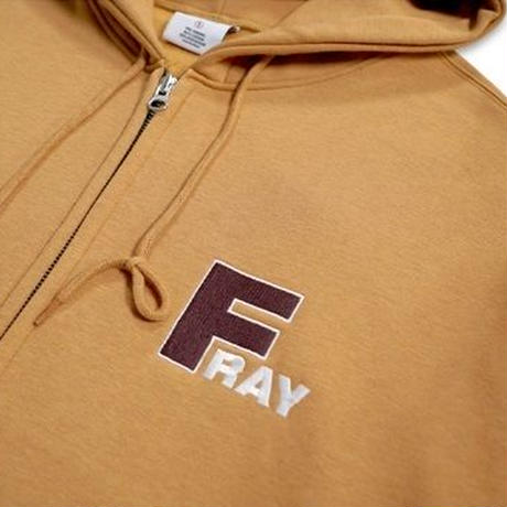 【FRAY】F LOGO HOOD ZIPUP - BROWN