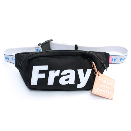 Logo Waist Bag – Black