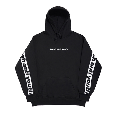 Band Hood Sweater – Black/White