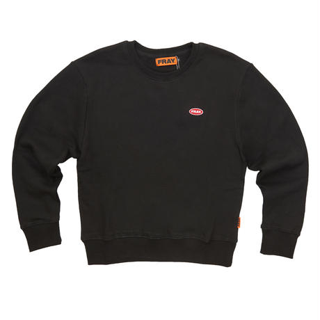 【Fray】LOGO CREWNECK SWEATER BLACK