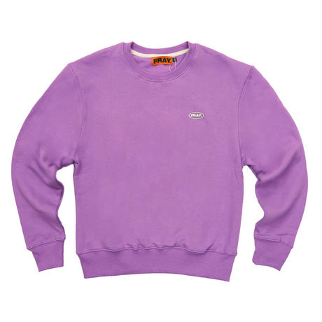 【Fray】LOGO CREWNECK SWEATER PURPLE