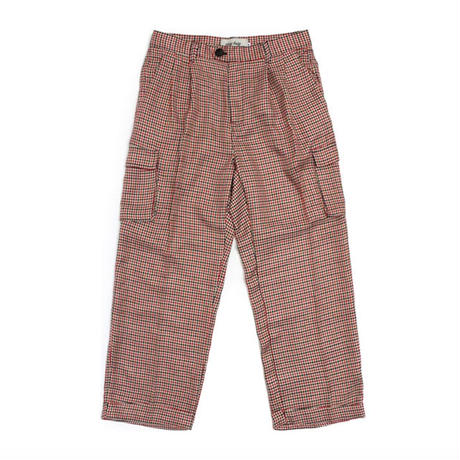 【easy busy】Check Classic Pants – Red&Black