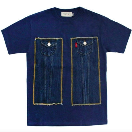 【easy busy】Truker Detail T-Shirts – Blue