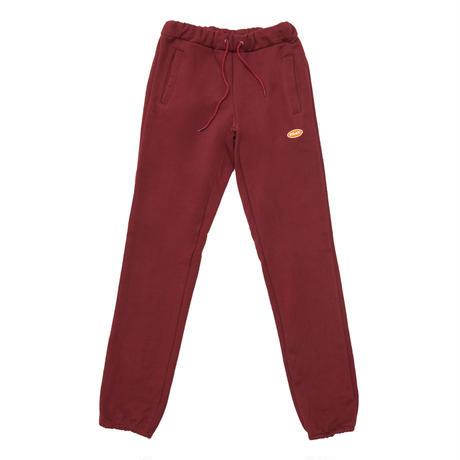 【Fray】LOGO BASIC SWEAT PANTS BURGUNDY
