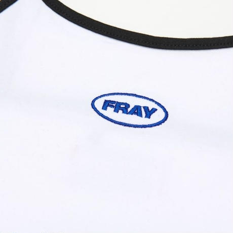 【Fray】FRAY SLEEVELESS CROP TOP WHITE
