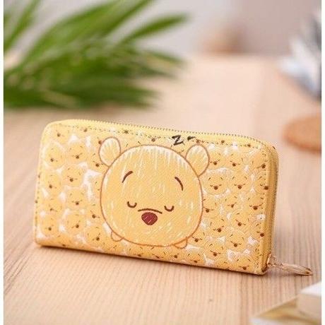 海外 ブランド 人気 長財布 レディース クマのプーさん キャラクター 財布 可愛い 安い プチプラ  レザー シンプル ディズニー ジブリ オススメ 使いやすい  クマ
