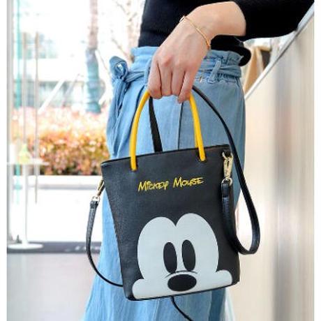 4Color 海外ブランド 人気  オシャレ 可愛い ミッキーマウス 2way レディース 大人可愛い フェミニン 使いやすい 通勤 通学 旅行 レザー バック ディズニー B2130