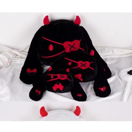 2Color 海外ブランド 人気  ウサギ ぬいぐるみ バッグ (ビッグ) 可愛い レディース 大人可愛い フェミニン 使いやすい ロリータ メンヘラ 悪魔 羽 ゴスロリ バック B2088