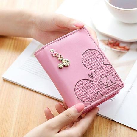 海外ブランド 人気 財布 6Color  レディース キッズ ミッキーマウス ディズニー 可愛い 安い キレイ レザー カジュアル ラグジュアリ カードホルダー チャーム  W287