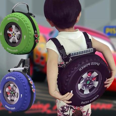 3Color 海外ブランド 人気  オシャレ 可愛い タイヤ型 リュック キッズ ベビー バックパック 公園 お出かけ 旅行 車 バック アウトドア 幼稚園 遠足 B2208