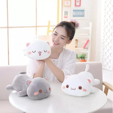 2Color 海外ブランド 大きい ぬいぐるみ ネコ 人気  雑貨 可愛い 動物 ビッグ インテリア 癒し シンプル (50cm) N130